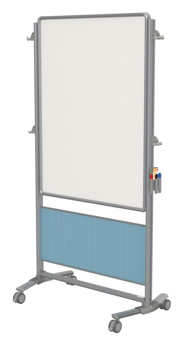 Double Sided Whiteboard W Pacific Blue Wall Includes Wheels