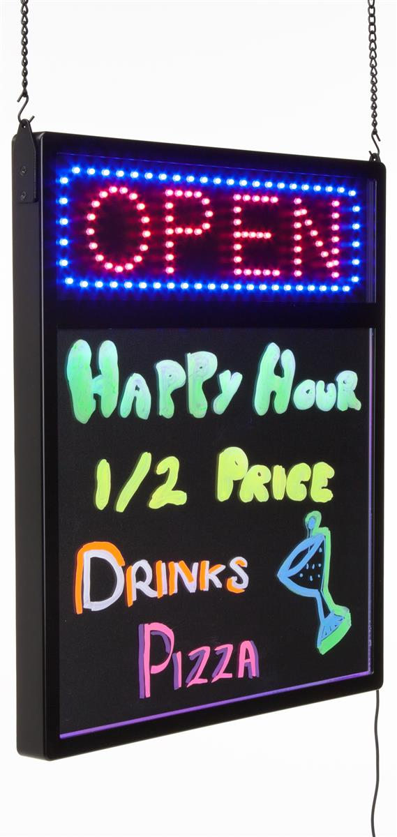 Open Led Sign Amp Write On Board Multi Color Animation