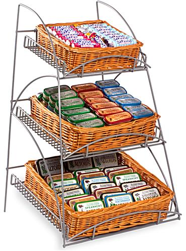wicker display rack
