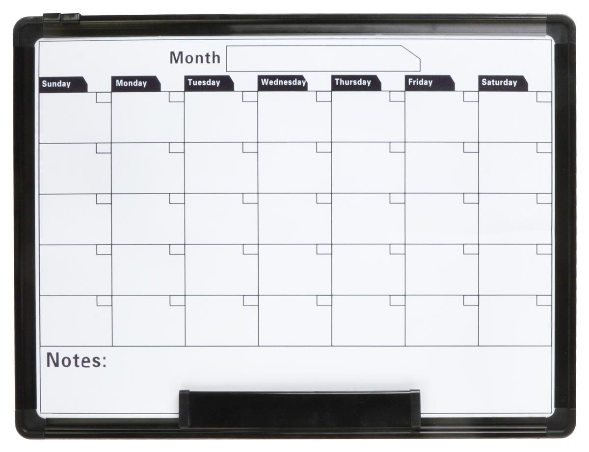 Dry Erase Calendar Template : Calendar white board dry erase magnetic surface