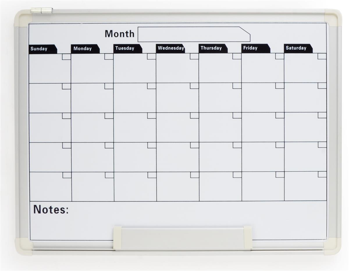 Monthly Calendar Board : Whiteboard monthly calendar dry erase surface