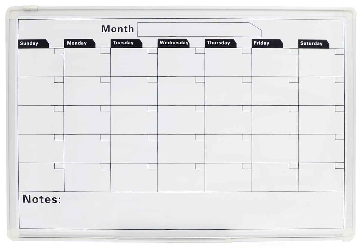 Monthly Work Whiteboard | Calendar Template 2016