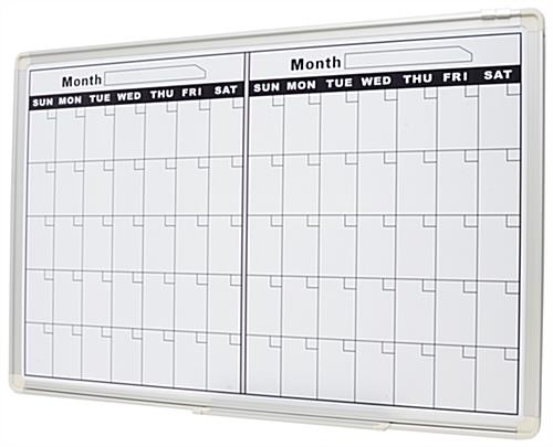 Month Dry Erase Calendar | Large Planner is Wall-Mounting