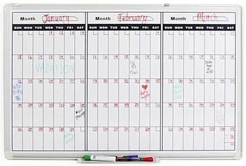 Dry Erase Calendar Staples : Dry erase calendars boards staples autos post