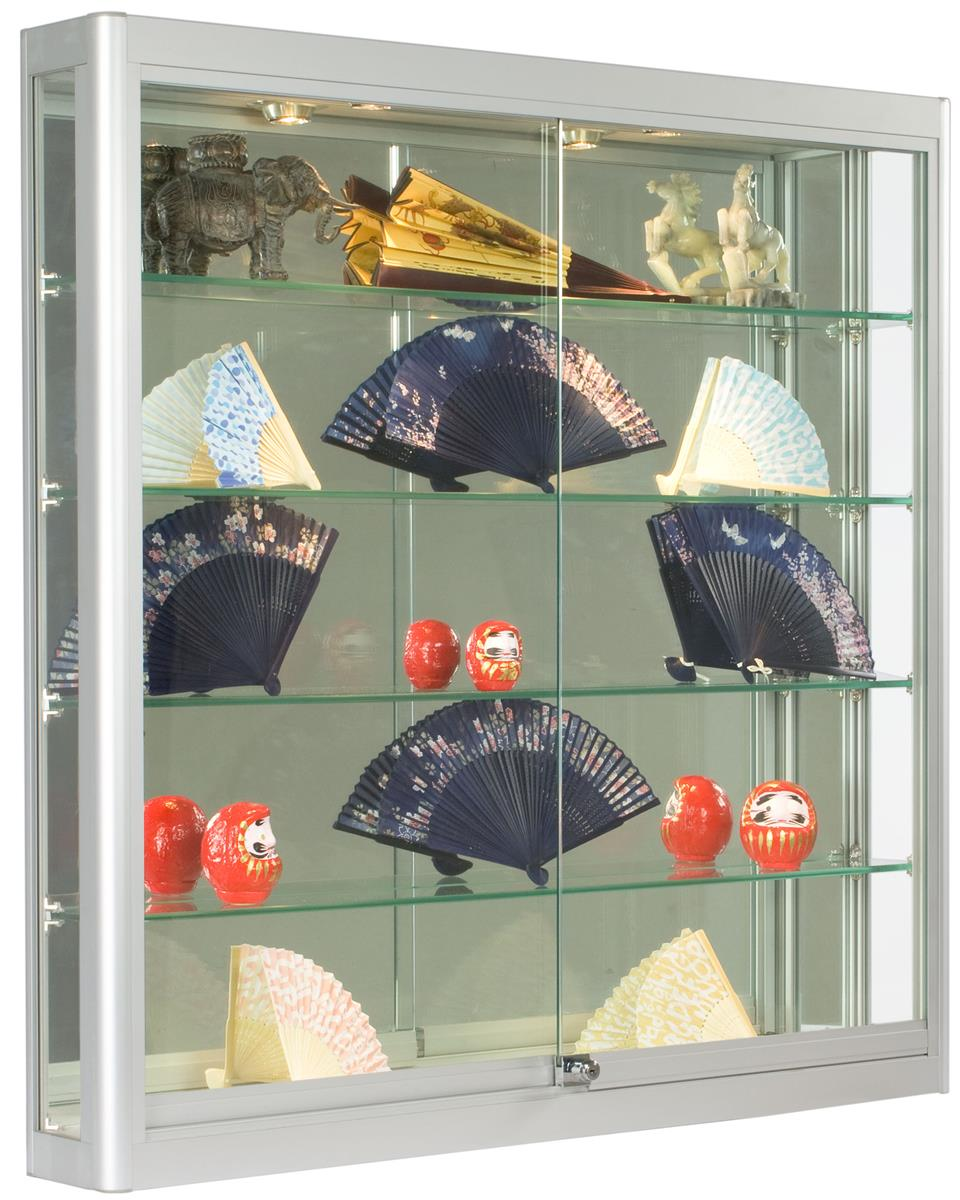Wall Cases Square Silver Display 6 Quot Deep