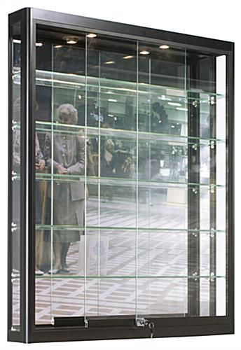 Wall LED Display Case, Sliding Glass Doors