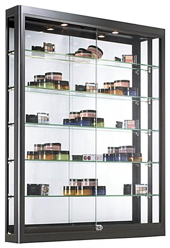 Black Wall LED Display Case