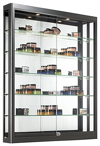 This Shadow Box Trophy Case With Built In Illumination
