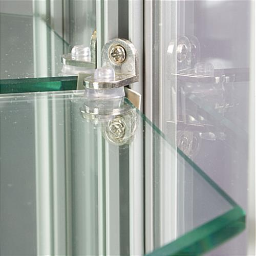 Wall LED Display Cabinet with Adjustable Shelf Clips