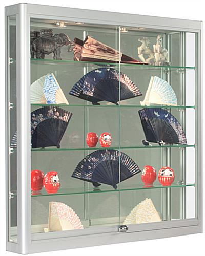 Silver Wall LED Display Cabinet