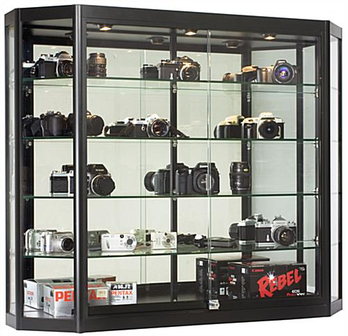 Angled Front Wall Cabinets Black Display With 12 Quot Depth