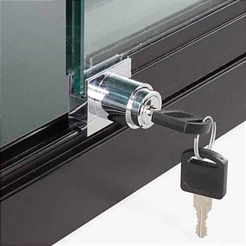 Fabulous Wholesale Glass Display Case Black W Sliding Doors Door Handles Collection Dhjemzonderlifede