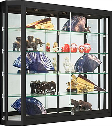 Black Wall Mounted LED Display Case