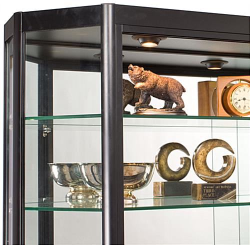 Illuminated Wall Display Cabinet with LED Lights
