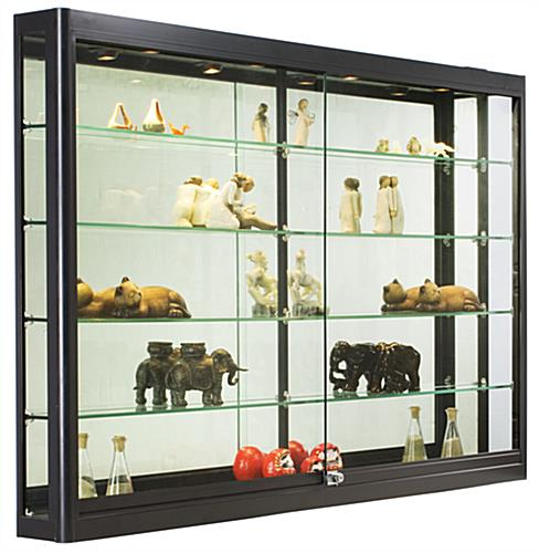 5 Ft Wide Wall Cabinet Black