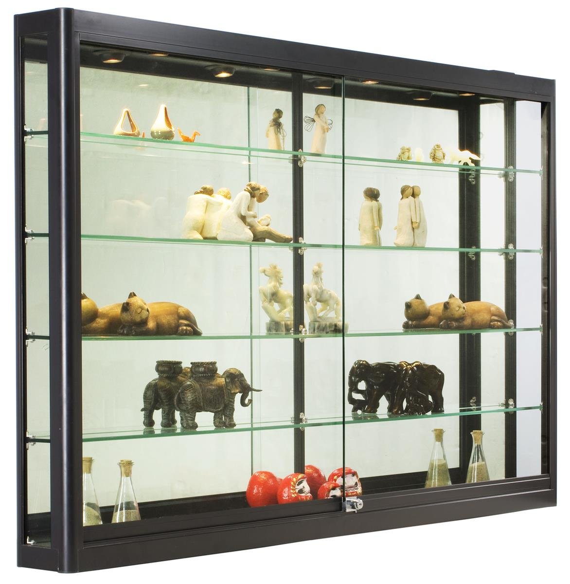 Black Wall Cabinet 5 ft. wide wall cabinet - black