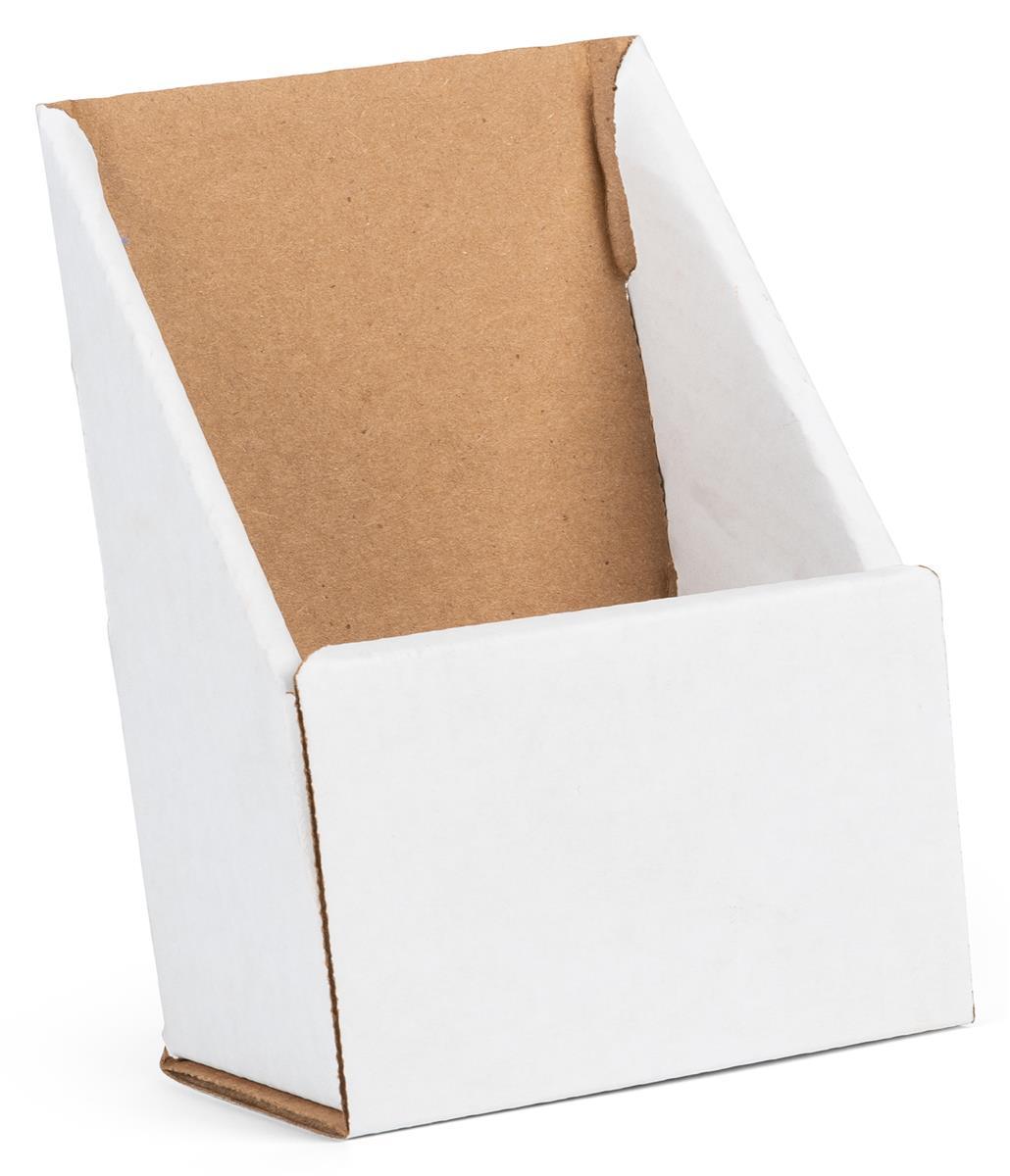 White Cardboard Brochure Holder Folds Amp Ships Flat