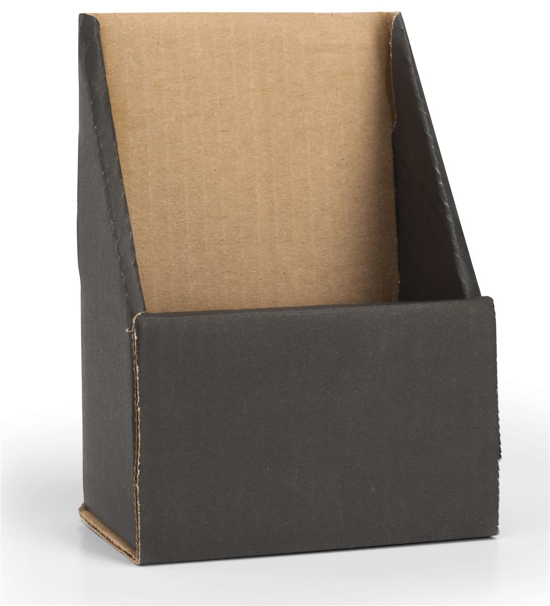 black trifold brochure holder