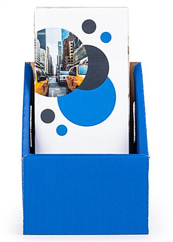 Tri Fold Cardboard Brochure Holder with High Backing