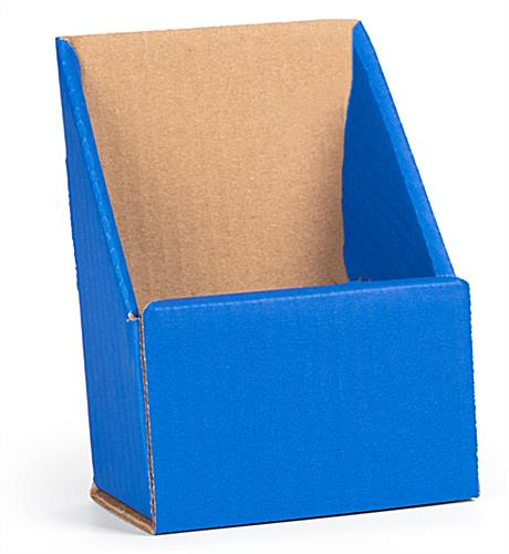 BlueTri Fold Cardboard Brochure Holder