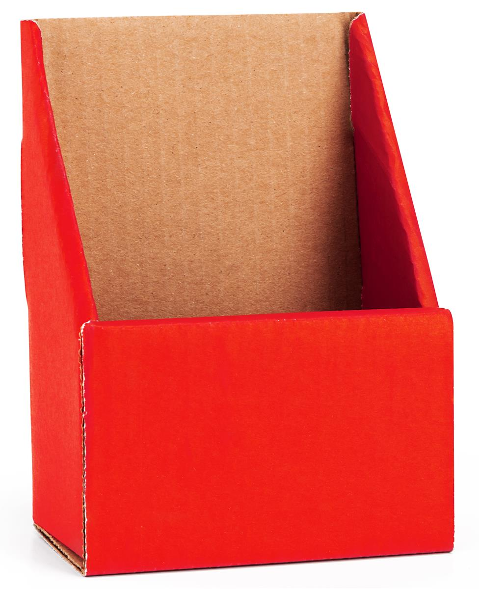 Red cardboard brochure holders