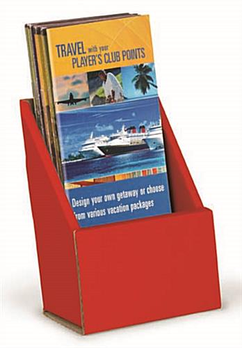 Tri Fold Brochure Holder | Foldable Red Cardboard Pocket