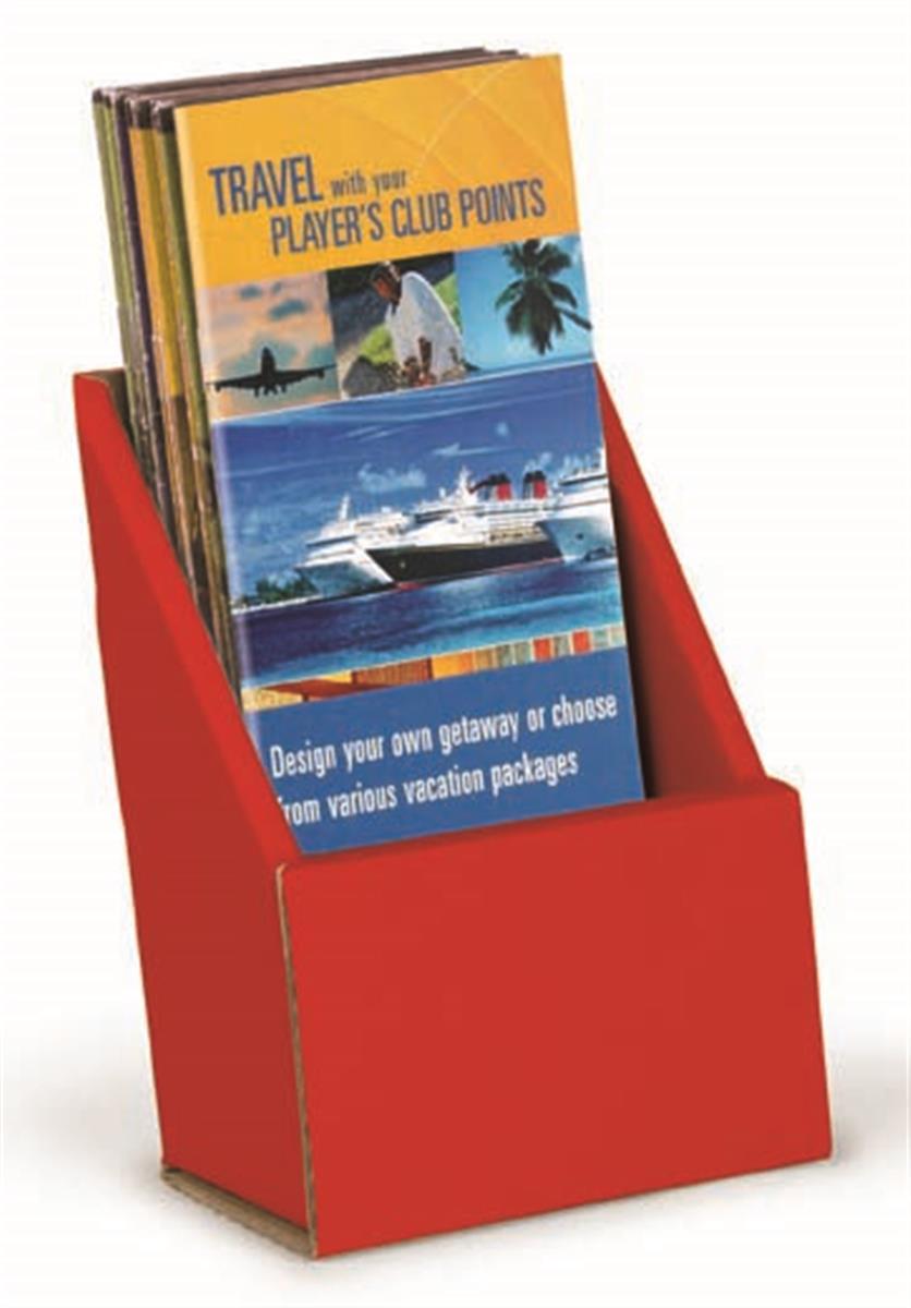 cheap red desktop pamphlet holder