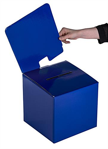 Blue Cardboard Entry Box with Removable Header