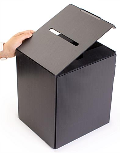 Large Ballot Box | Corrugated Plastic With Removable Header