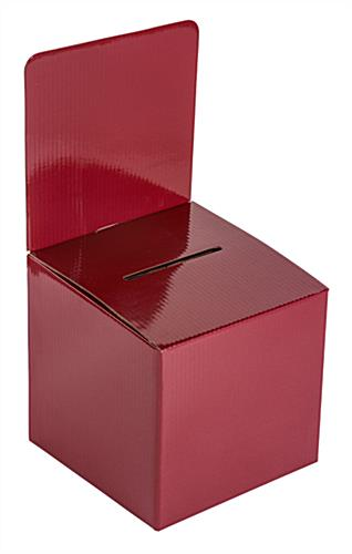 Lightweight Red Cardboard Entry Box