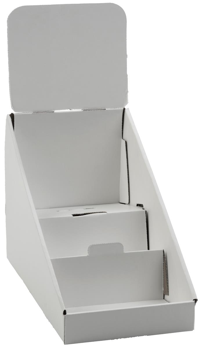 Cardboard Display 3 Tier Countertop Dvd Or Cd Rack
