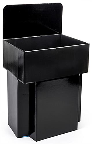 Cardboard Bulk Bins with Gloss Black Finish
