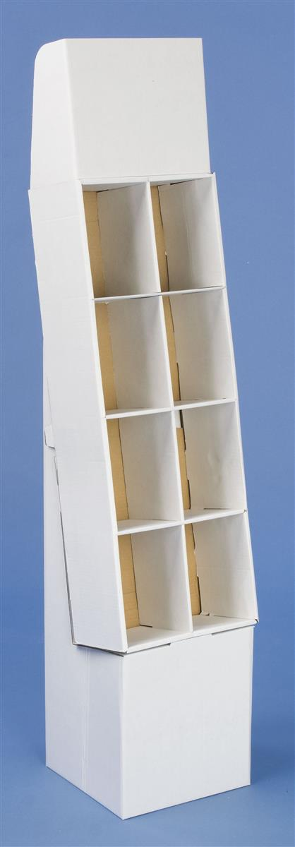 Corrugated Pop Dvd Stand 8 Holding Cells White