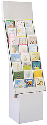 Corrugated greeting card holder 8 tier 24 pocket cardboard pop holder corrugated pop displays m4hsunfo