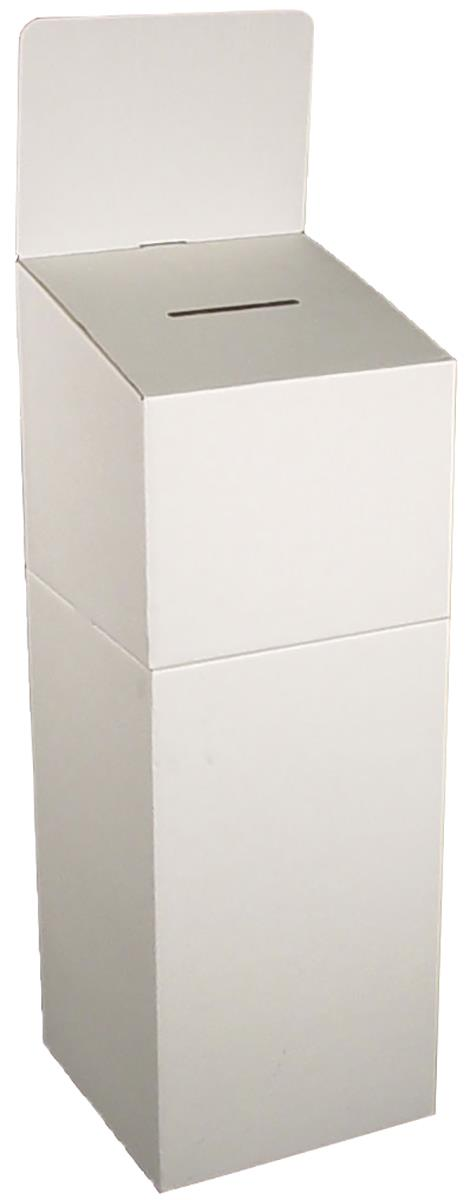 Elwood Cardboard Ballot Box with Header, Floorstanding or...