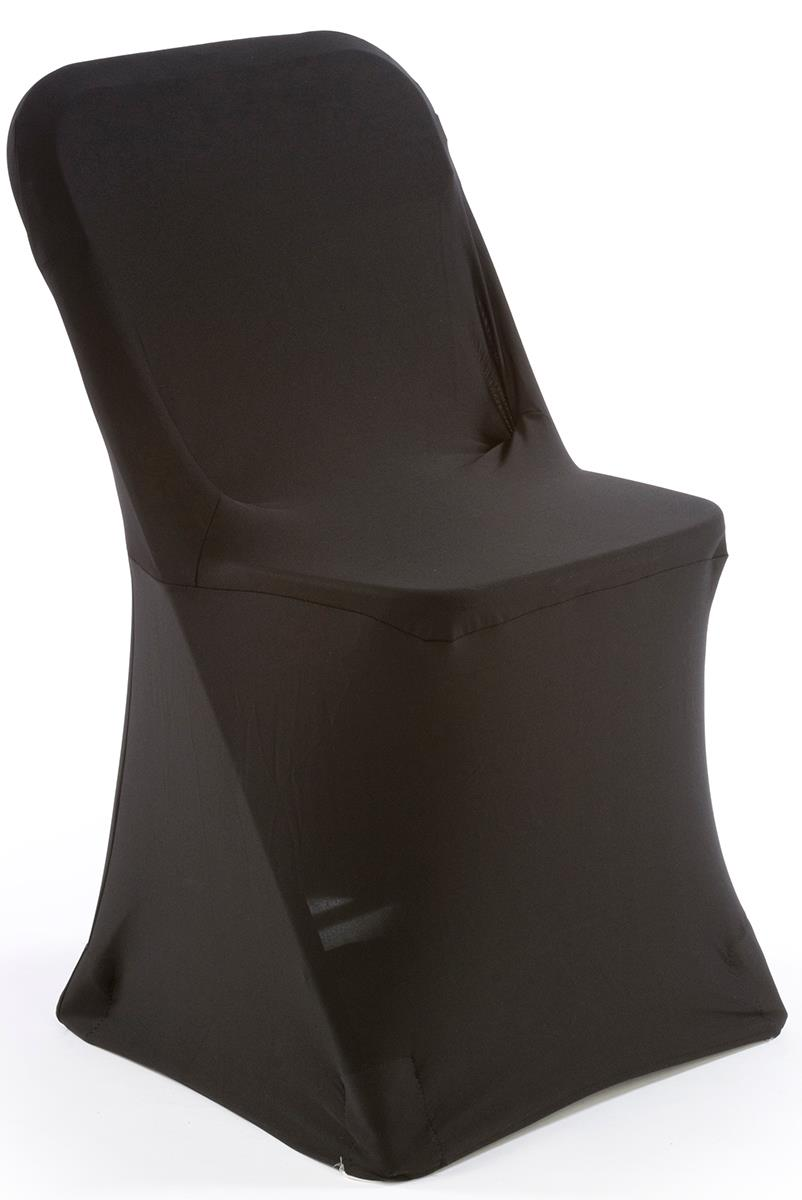 White plastic chair with black stretch cover machine washable Furniture plastic cover
