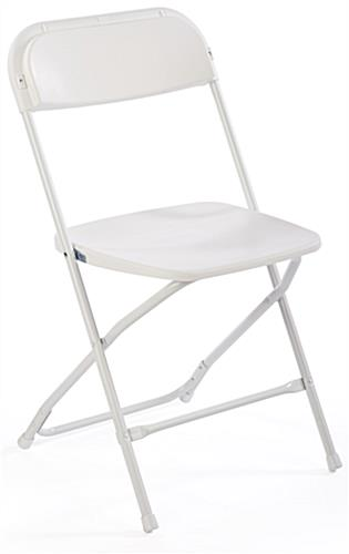 Chair with Stretch Cover, Plastic & Steel Construction