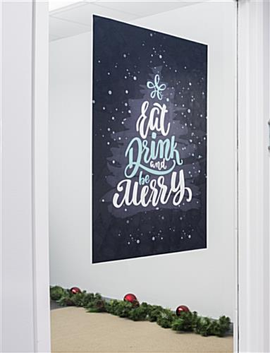 "24"" x 36"" eat, drink, merry holiday cling on glass"