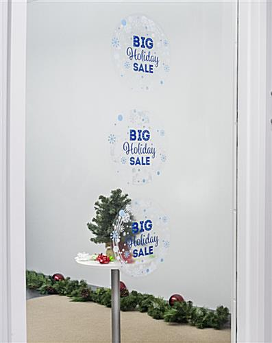 "12"" x 12"" seasonal window cling adhesive-free"