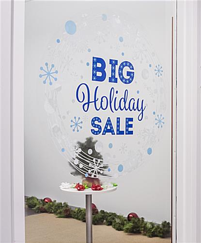 "24"" x 24"" seasonal window cling adhesive free"