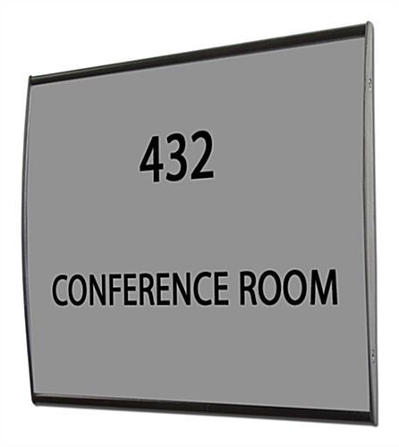 Office Door Signs | Black Anodized Aluminum Office Door Signage