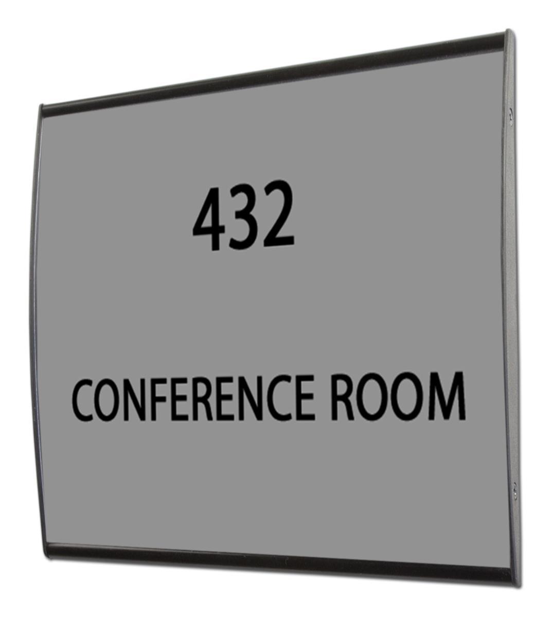 Office Door Signs Black Anodized Aluminum Office Door