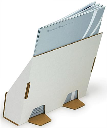White Cardboard Magazine Display Countertop Corrugated Box
