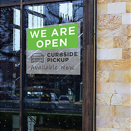 We are open curbside pickup sign