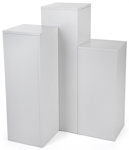 3-Piece Square Display Pedestal Set