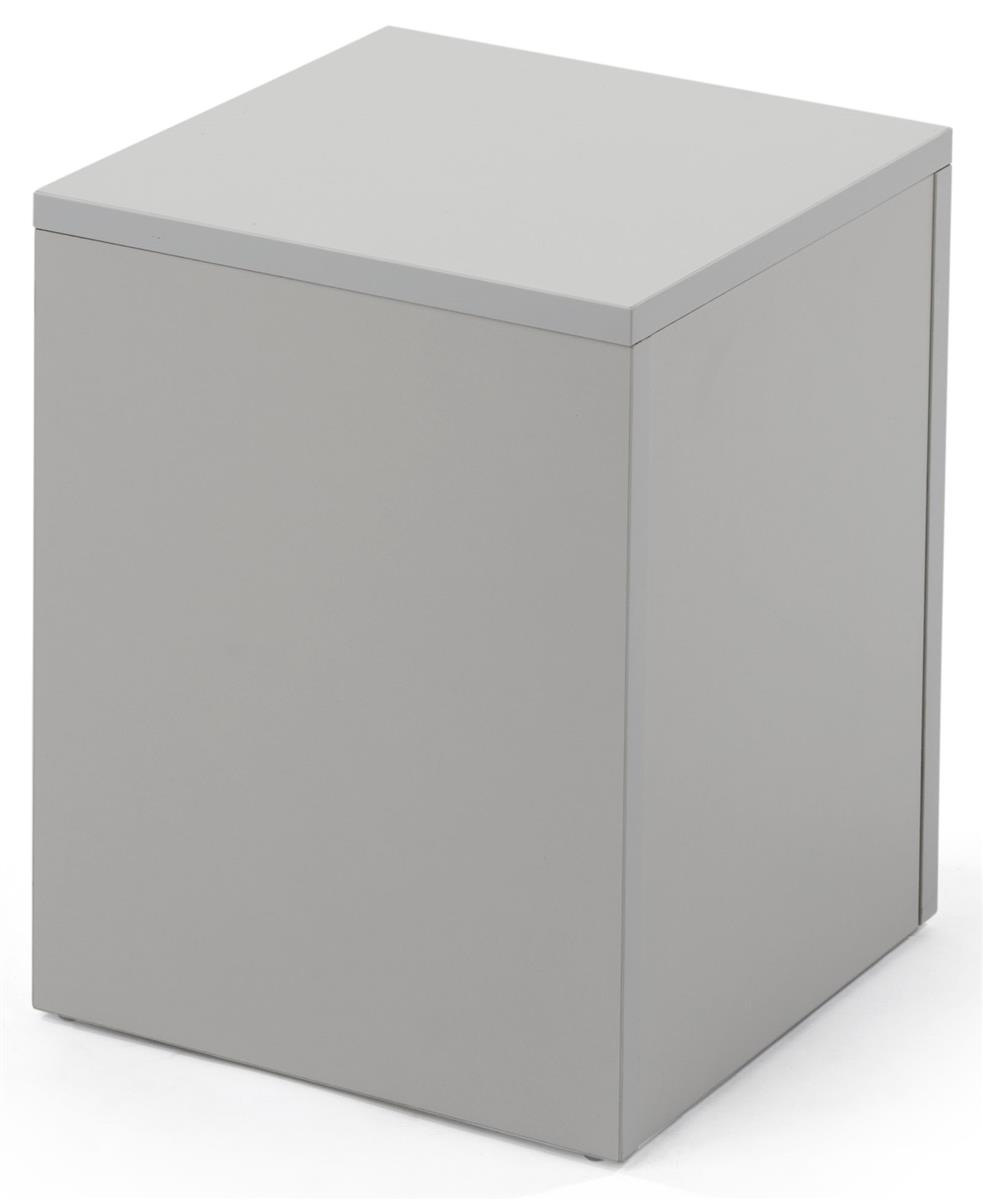 White Laminated Particle Board ~ Square pedestal stand collapsible with hollow middle