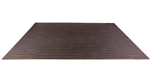 Dark Oak Interlocking Wood Floor Mats, Soft Foam Tiles