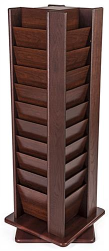 Red mahogany oak magazine rack