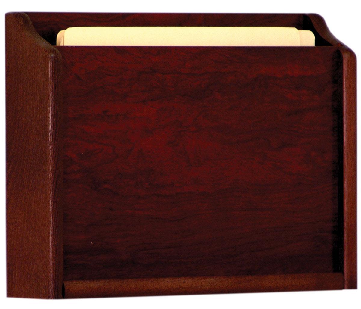 Medical Chart Rack 1 Pocket Wood File Folder Holder