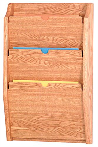 Light Oak Wall File Holder